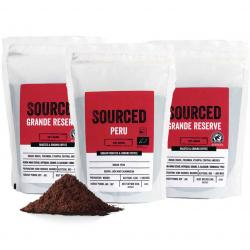 Sourced Grande Reserve and Peru 250g Ground Coffee Special Offer