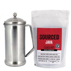 Sourced Rainforest Alliance Java and Cafetiere Starter Kit