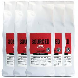 Sourced Java Rainforest Alliance Coffee Beans 6x1kg