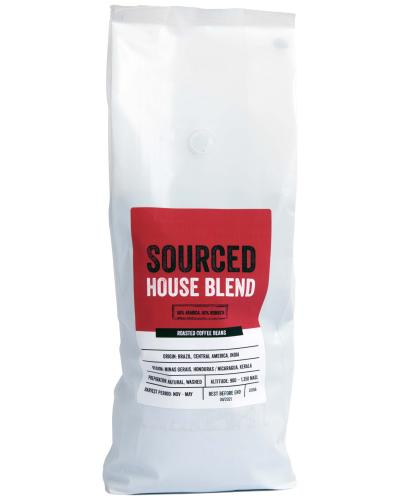 Sourced House Blend Coffee Beans 1kg