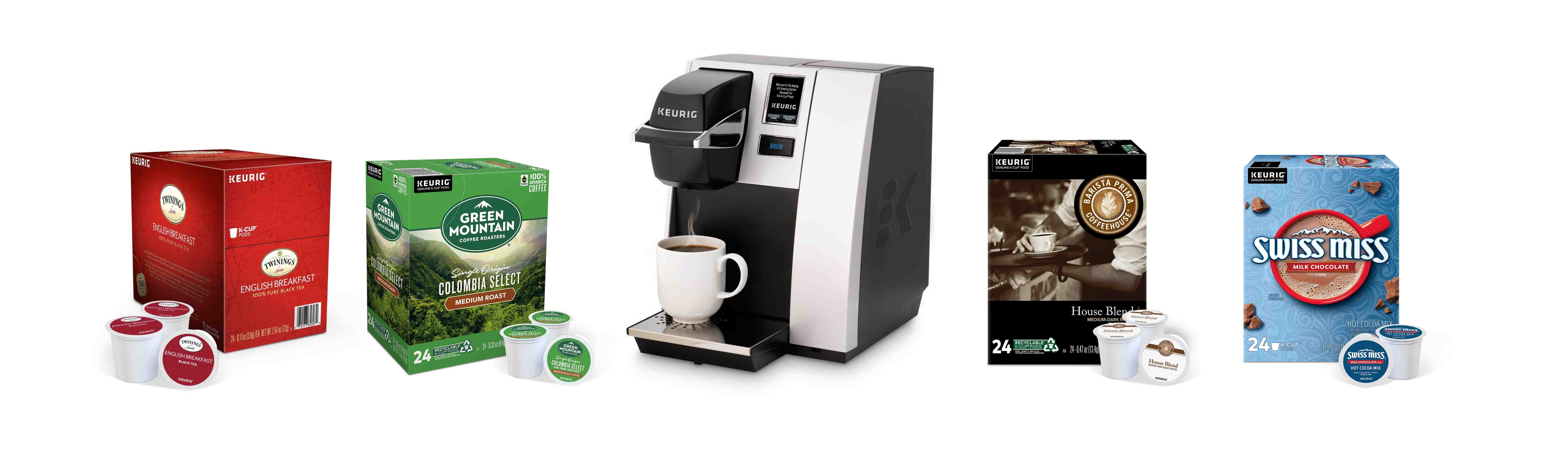 Keurig coffee pods and machines